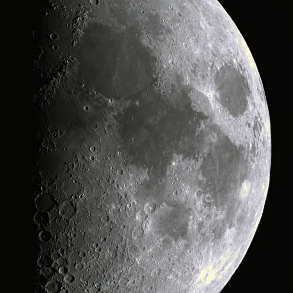 De maan gezien vanuit Sonnenborgh