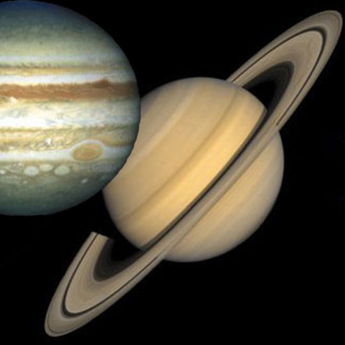 Jupiter en Saturnus