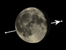 De Maan bedekt Î Cancri