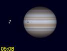 Io bij Ganymedes