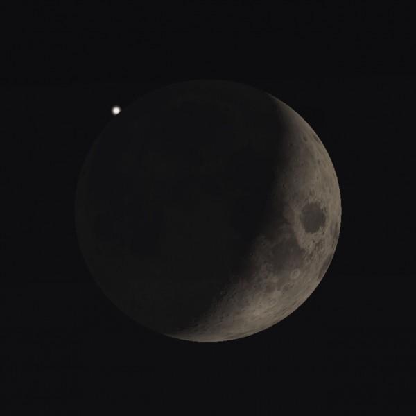 Maan bedekt ster